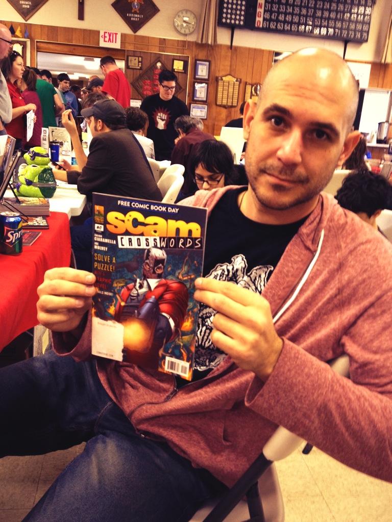Jason Ciaramella at the Jetpack Comics Festival in Rochester, NH.