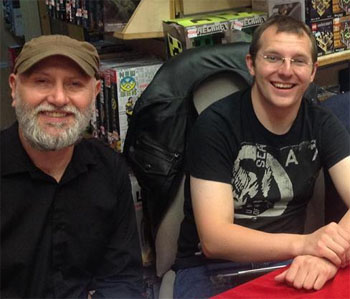 John and Iain at a signing at Forbidden Planet Glasgow.
