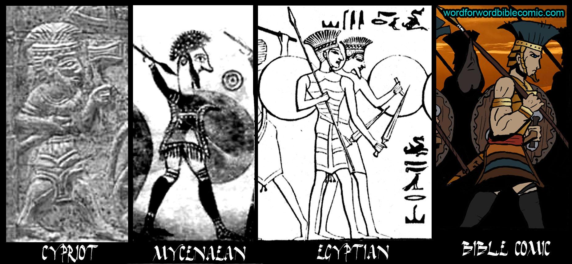 Philistines depicted colour